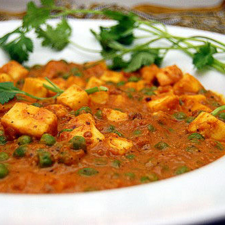 Mattar Paneer ~ Indian Pressed Cheese with Peas Recipe