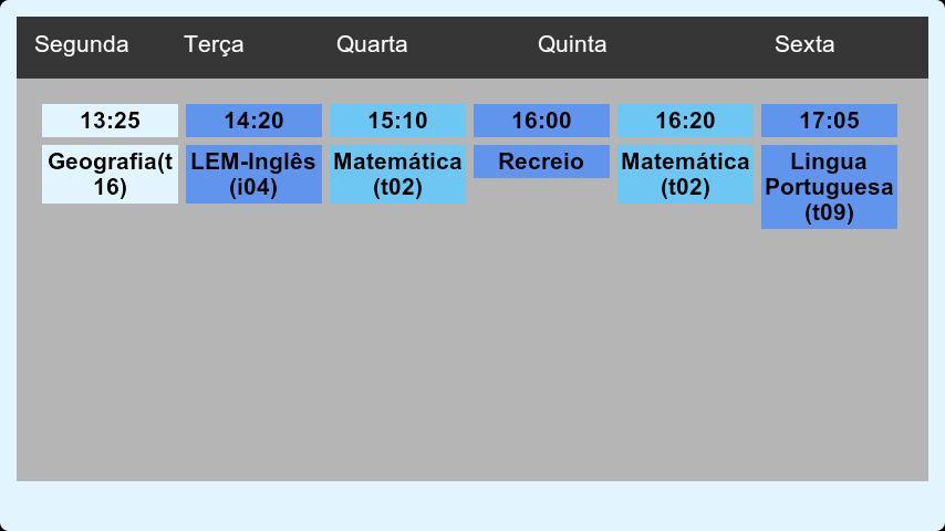 Horário Escolar - screenshot