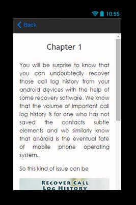 Recover Call Log History Guide - screenshot