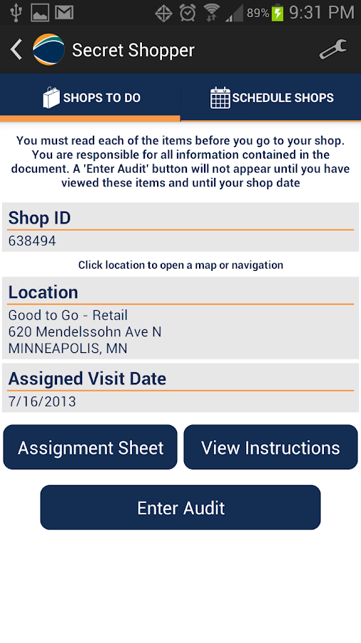 secret shopper app