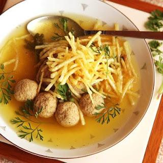 Sopa de Albóndigas (Colombian-Style Meatball Soup).
