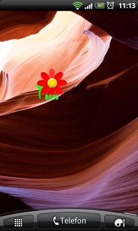 Flower Battery Widget - screenshot
