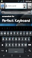 Screenshot of Holo Dark Blue Keyboard Skin