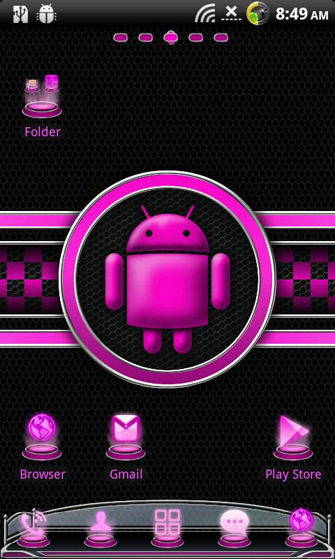 Pink Theme GO LauncherEX - screenshot