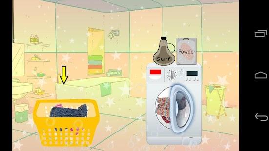 洗孩子的衣服