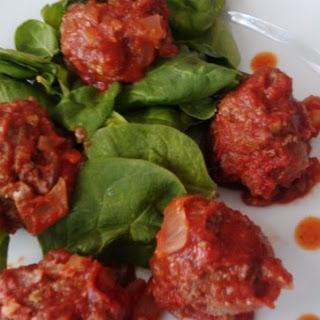 Paleo Moroccan Meatballs in Cumin Coriander Tomato Sauce