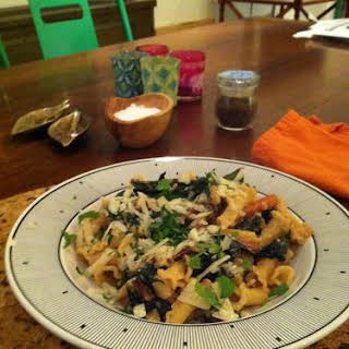 Penne with Kale and Cashew Cream Sauce.