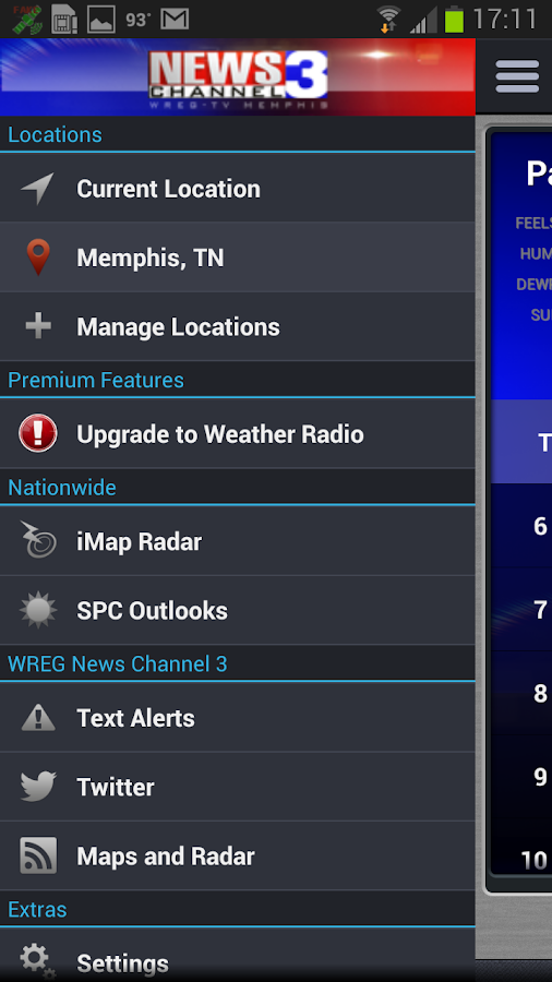 WREG Memphis Weather Center - screenshot