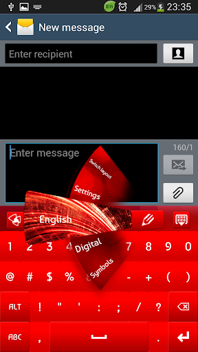 GO Keyboard Red Light