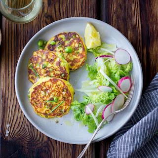 Saffron, Ricotta and Pea Pancakes {Gluten-Free} Recipe