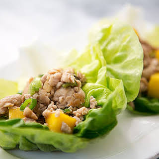 Chicken Mango Lettuce Wraps.