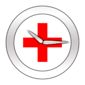 Red Cross Clock Widget
