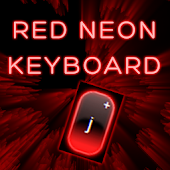 Red Neon Keyboard