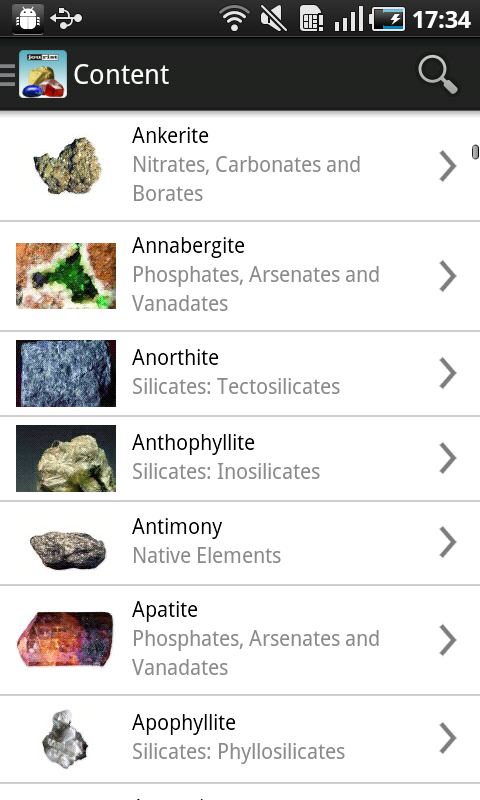 Minerals & Gemstones- screenshot