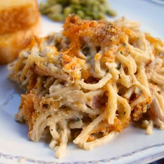 Cheesy Chicken Spaghetti Casserole.