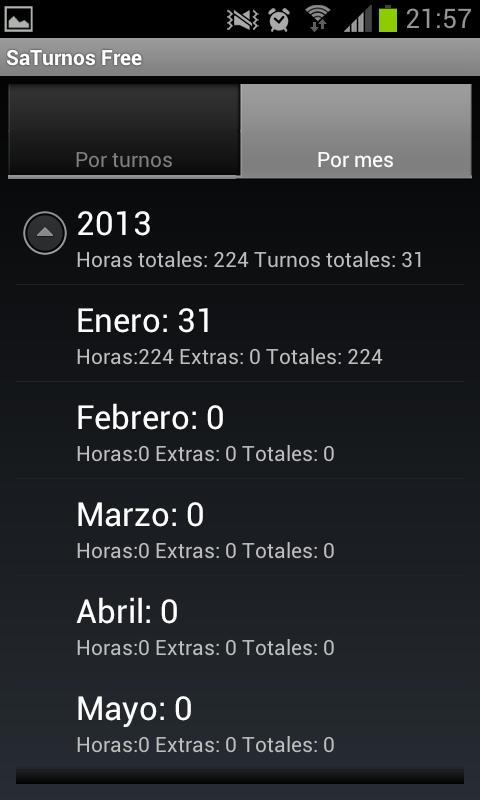 SaTurnos Free Calendar - screenshot