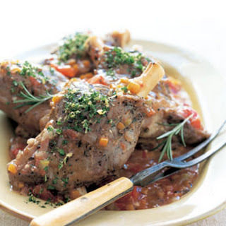 Lamb Shanks with Tomatoes and Fresh Herbs