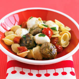 Pasta with Turkey Meatballs and Bocconcini.