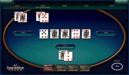 AI Texas hold'em poker