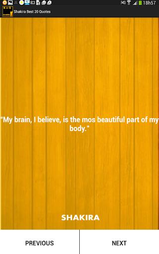 Shakira Best 20 Quotes