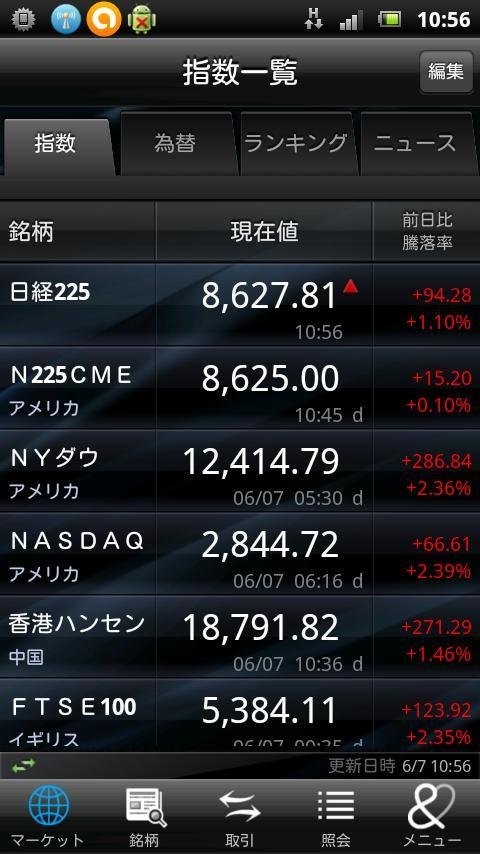 野村株アプリ- screenshot