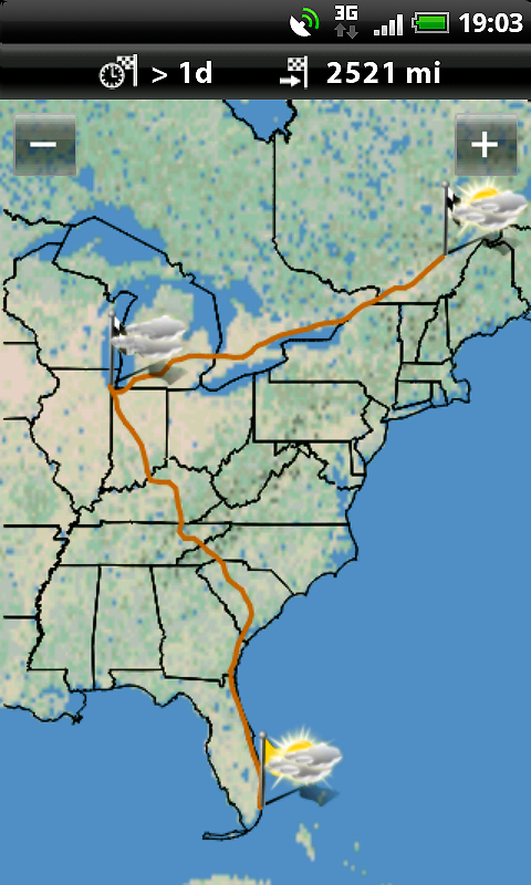 Garmin HUD North America- screenshot