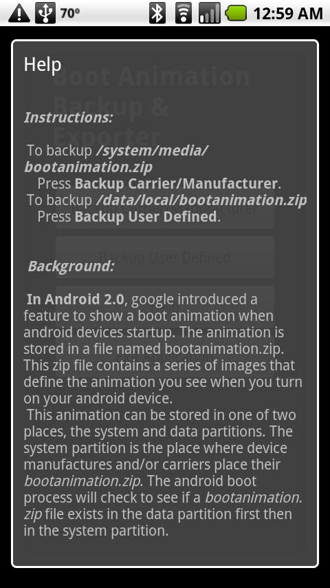 Boot Animation Backup - screenshot