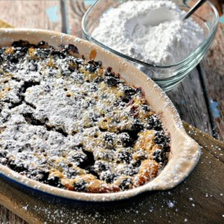 Rustic Blueberry Cake Clafoutis.