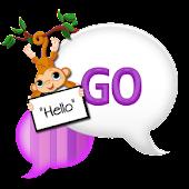 GO SMS THEME|PurpleDreamMonkey