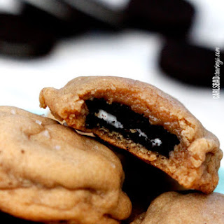 Sea Salt Oreo Stuffed Peanut Butter Cookies