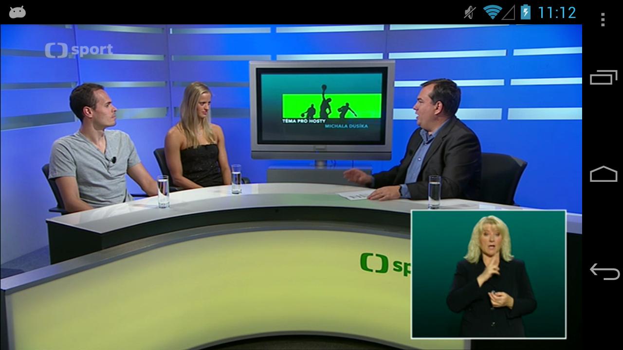 ČT sport- screenshot
