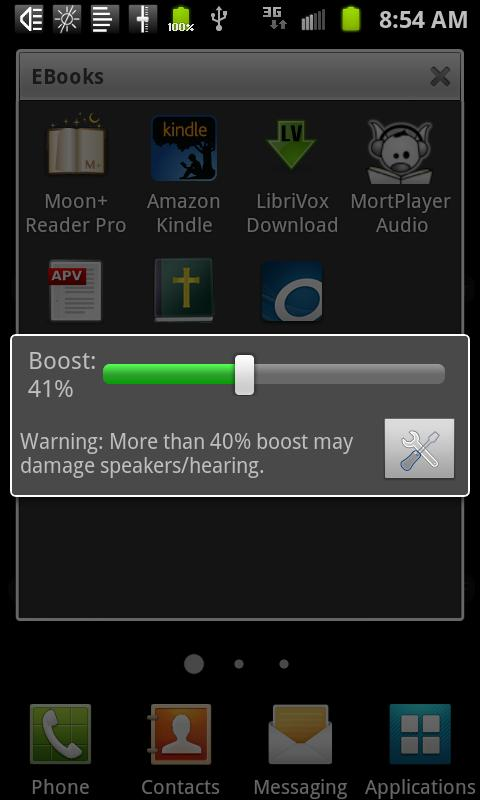 Speaker Boost- screenshot