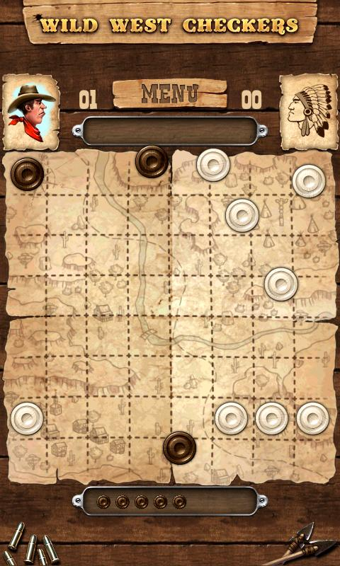 Wild West Checkers- screenshot