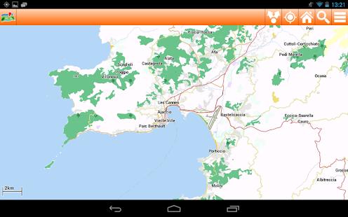Corsica Offline mappa Map - screenshot thumbnail