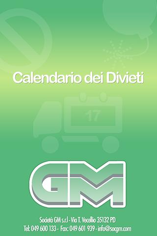 Calendario dei Divieti 2015