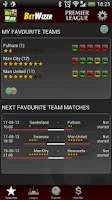 Screenshot of BetWizer Premier League FREE