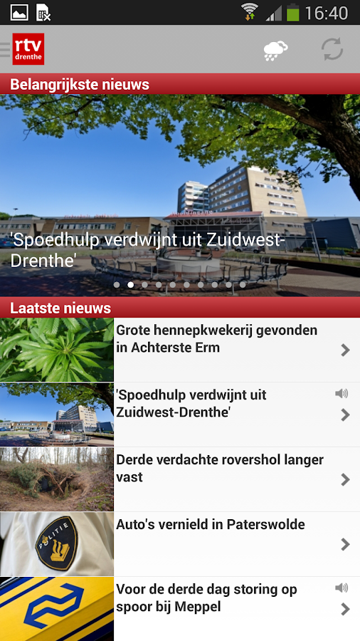 RTV Drenthe- screenshot