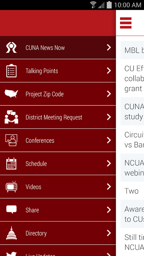 CUNA Advocacy - screenshot