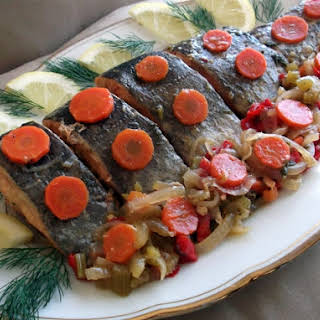 Trout Confit In A Zesty Marinade.