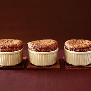 Dark Chocolate Souffles with Cardamom Crème Anglaise