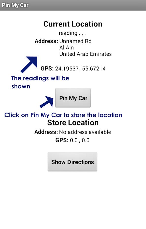 Pin My Car - screenshot