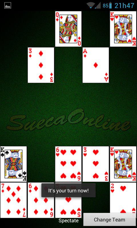 Sueca Online - screenshot