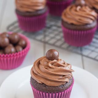 Malted Milk Chocolate Cupcakes.