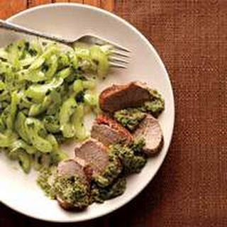 Roast Pork Tenderloin with Celery Slaw
