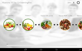 Screenshot of Vitamins 101 by GoLearningBus