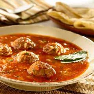 Lamb Albondiga Soup.