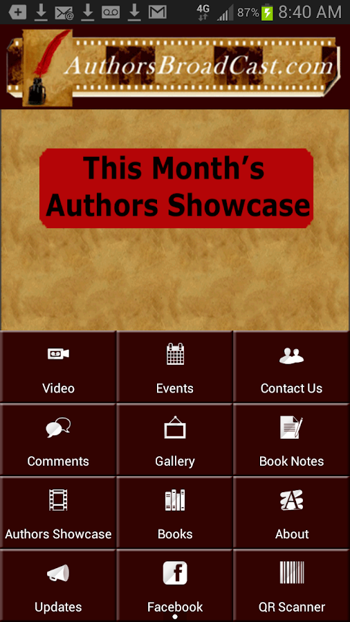 Authors Broadcast- screenshot