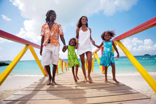 family-pier-St-Maarten - St. Maarten family time may include an afternoon walk to a pier.