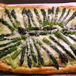 Asparagus, Zucchini and Ricotta Tart.