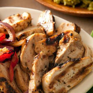 Basic Chicken Fajitas.